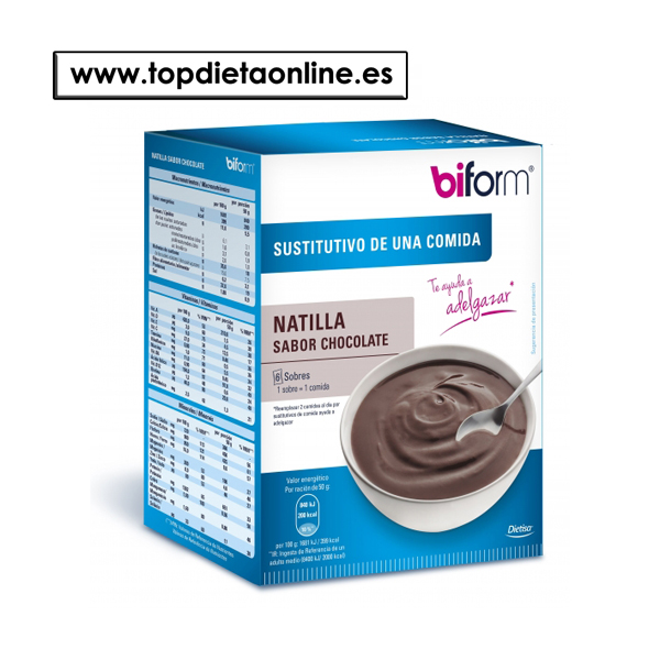 Natillas Chocolate - Biform 6 sobres