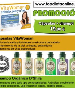cabello sano: cápsulas anticaída + champú orgánico