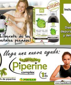 plan dietetico depurativo: chlorellpure + piperine