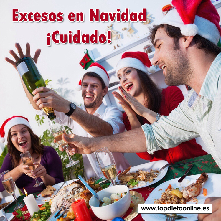 Excesos en Navidad, ¡cuidado!