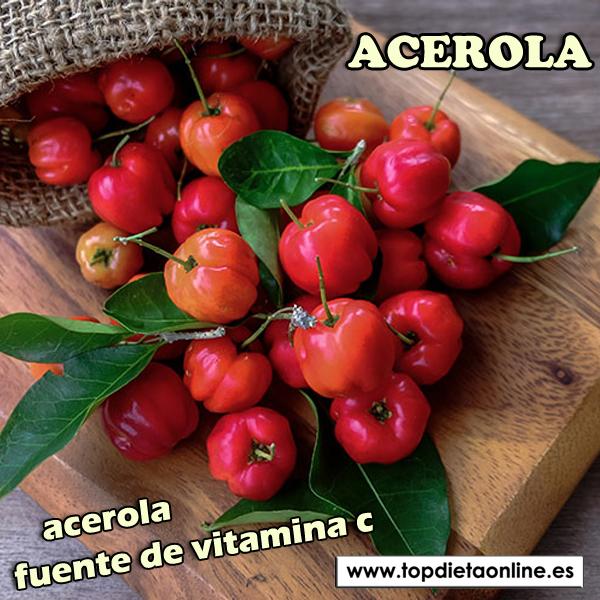 Acerola fuente de vitamina c