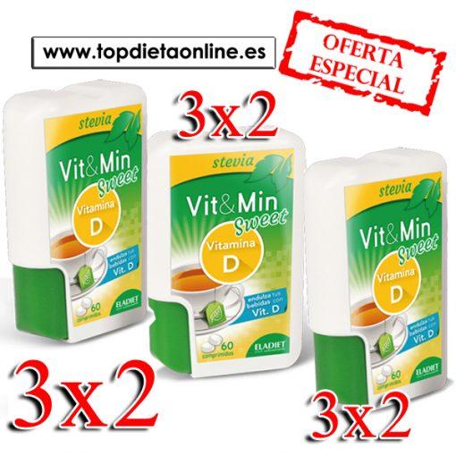 3X2 Stevia + vitamina D Eladiet