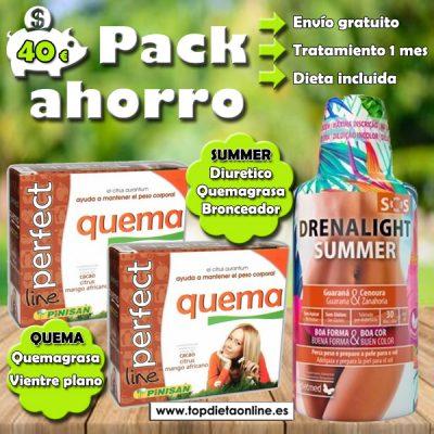 Adelgazar antes del verano. Pack Ahorro Summer + Quema