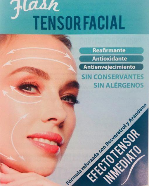 Flash tensor facial publicidad