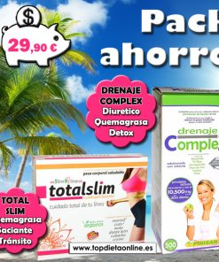 Pack ahorro Dieta de verano: drenaje complex + total slim