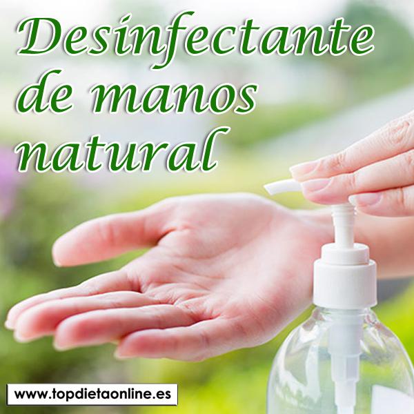 Gel desinfectante natural