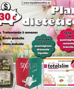 Plan dietético Six plan + total slim topdietaonline