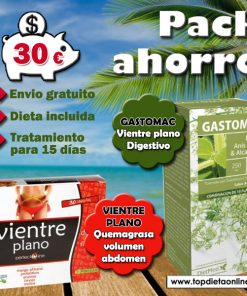 Plan dietetico vientre plano + gastomac topdietaonline