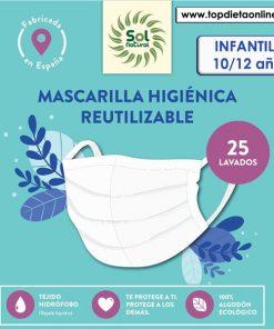 Mascarilla higiénica reutilizable Sol natural
