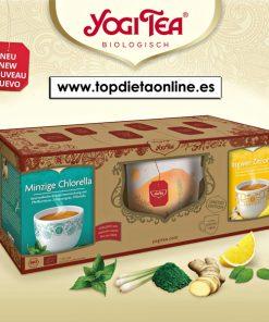 Pack yogi tea chlorella menta + jengibre limón
